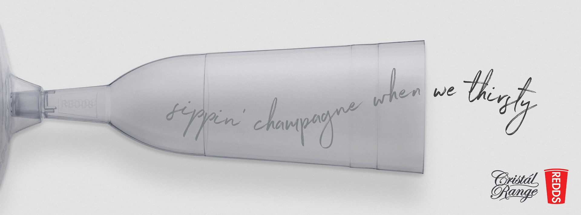 REDDS CRISTÀL RANGE PLASTIC CHAMPAGNE FLUTES 75ML